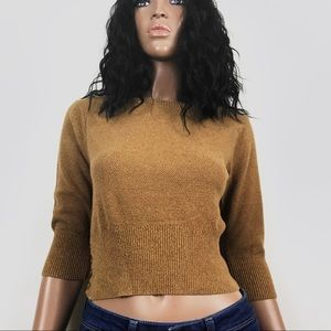 Fossil Brown Crop Sweater